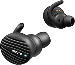 Bluetooth 5.0 Wireless Earbuds – MUCRO Noise-Canceling Earphones with Microphone Ear Hooks TWS Lightweight Buds for Running Sports Android Phone iPhone iPad PC Headphones