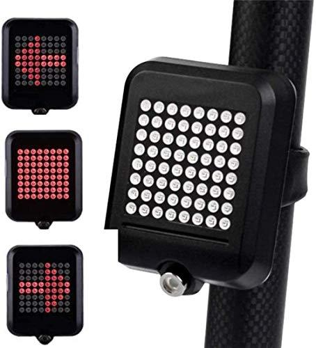 AMBM Luz de señal de giro de bicicleta inteligente recargable USB bicicleta trasera luz trasera freno luz trasera seguridad Ciclismo advertencia noche montar linterna antorcha Accesorios