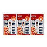 KISS 100 Full Cover Nails Short Square Style Glue On 7-day wear Trim & file to any shape 3 PACK