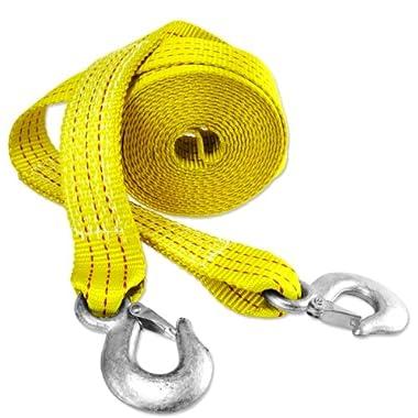 Presa 21079 Heavy Duty 10000 lb. Tow Strap with Hooks, 2  x 20', Yellow