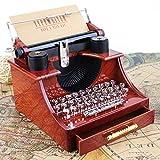 Jannsyhop Vintage Machine à écrire Musique Boîte en Plastique Antique Musical...