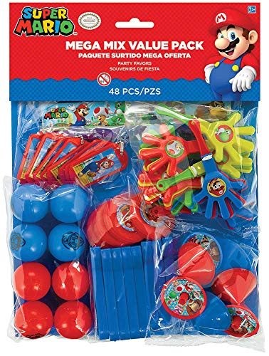 Super Mario Bros Party Mega Mix Value Favour pack - Fill your party bags with ease! by Super Mario Bros