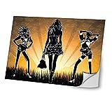 Diva 10353 Skin Sticker Schutzfolie Vinyl mit Ledereffekt Laminat & Buntem Design für Laptop 17 Zoll (43,2 cm)