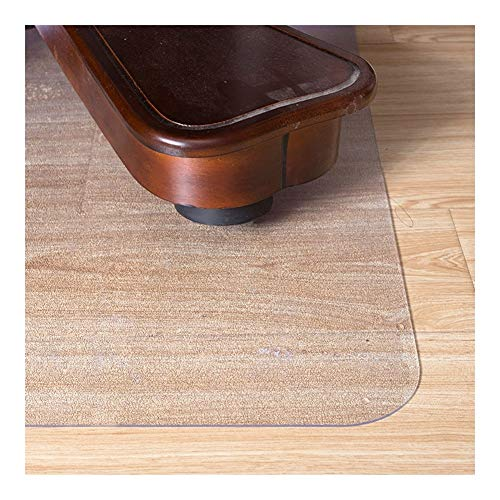 Clear Chair Mat for Hard Floors, Computer Desk Tablecover Tabletop Covers Table Cloth Cover, Pulley Non-Slip Seat Cushion Carpet, Customizable ALGFree (Size : 1.5mm- 43x60cm)