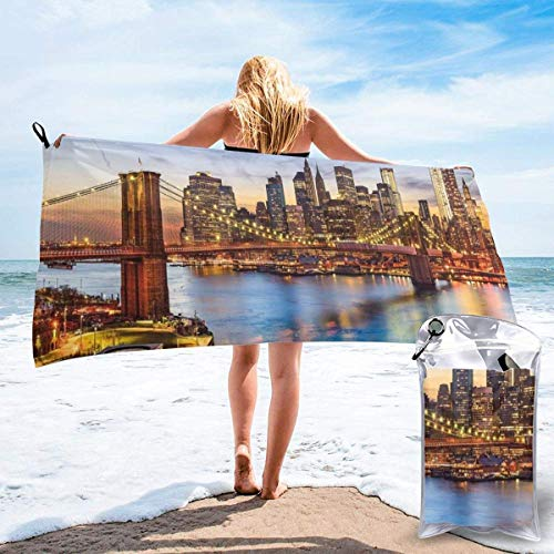 Hogar y cocina Baño Textiles de baño Toallas Toallas de playa Quick Dry Beach Towel Antique Old Plan Discovery Ship Pirate Wave Compass Navigation Geography Theme Microfiber-Sand Free-Lightweight Thin