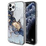 Marble Bling Glitter iPhone 11 Pro Case - Slim Clear Bumper