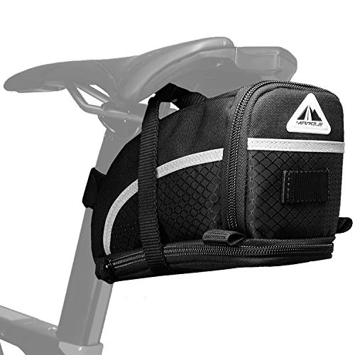 MARQUE Capsule Bike Saddle Bag - Bicycle Under seat Storage for Road and Mountain bikepacking and Commuter - Cyclist Gift