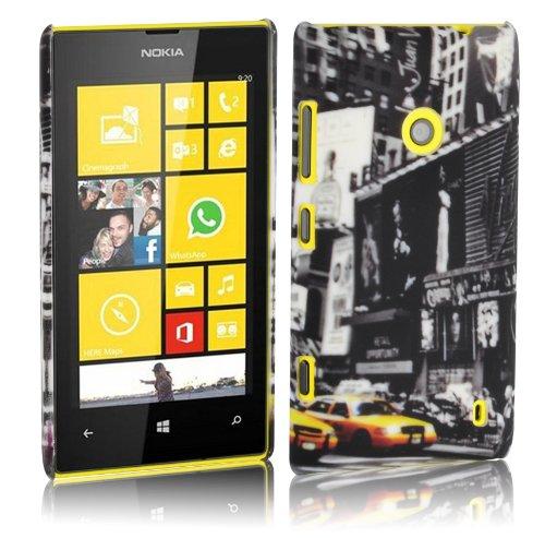 Cadorabo – TPU Hard Cover per  Nokia Lumia 520  - Case Cover Involucro Bumper Accessorio in Design: New York Cab