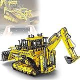 RRNAR Excavadora técnica de Control Remoto, Modelo Bulldozer Technik, Molde Rey 17023, 3963 Piezas, con Mando a Distancia y 6 Motores, Compatible con Lego Technic