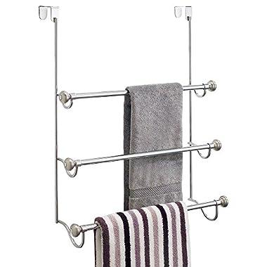 InterDesign York Over-the-Shower Door Triple Towel Rack