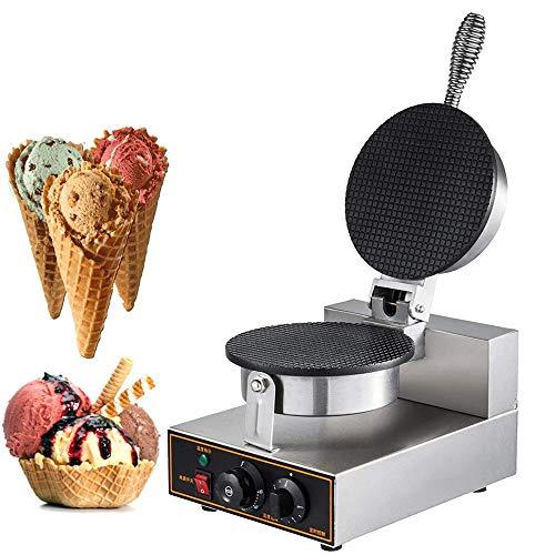 Angela Machine à Rouler Les œufs Commerciale, gaufrier à Cornet de crème glacée électrique, Cuisson de Chauffage Automatique à Double Face, antiadhésif, pour café, Utilisation de Snack-Bar