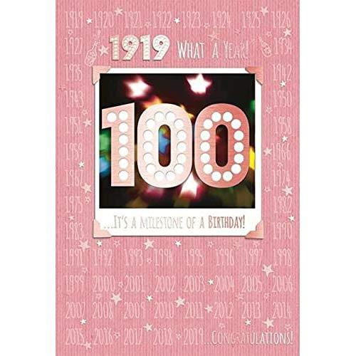 100e 100 Verjaardagskaart 1919 Jaar Je bent geboren Vrouwelijk Jaar Verschillende Feiten Binnen