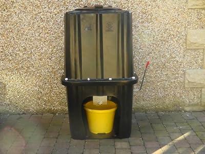 The Smart Plastic Bunker (NO shovel required) coal wood pellets animal feed bin salt and grit