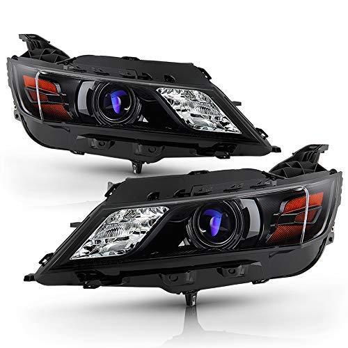 ACANII - For [Halogen Model] 2015-2019 Chevy Impala Black Housing Projector Headlights Headlamps Assembly Set Left+Right
