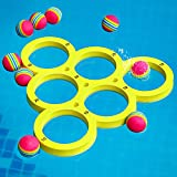 Hiboom Floaty Pool Pong Game Combo Foam with 10 Colorful Balls, Floating Swimming Pool Party Toys, Water Toss Game for Family Adults Kids