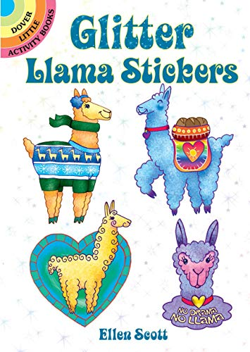 Glitter Llama Stickers (Dover Little Activity Books Stickers)