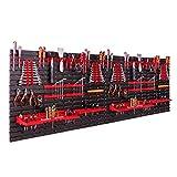 Scaffalatura da parete, 230 x 78 cm, supporti per attrezzi, scaffali per magazzini, scaffali a vista, pannelli da parete extra forti, espandibili, scaffali da officina