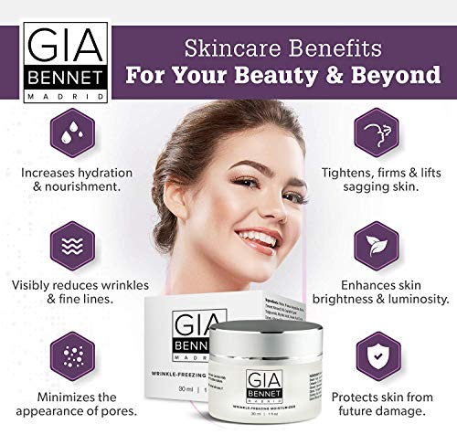 51Pm2WRMkoL - GIA BENNET Premium Wrinkle Freezing Moisturizer for Firm Skin Structure, Day and Night Ultimate Luxury Revitalizing Cream- Age Defying Spa, 1oz / 30ml
