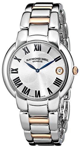 Raymond Weil Women's 5235-S5-01659 'Jasmine' Stainless Steel Watch with Two-Tone Link Bracelet