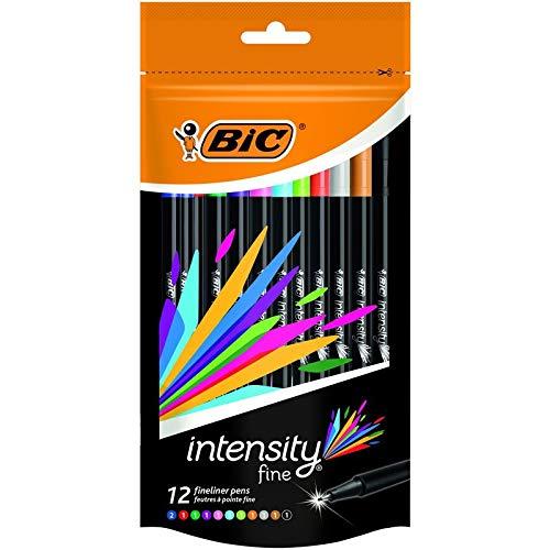 Intensidad Bic bolígrafo de escritura fieltro fina (20unidades, colores brillantes surtidos 94209720138297