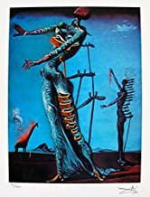 Leos Coffers Artwork by Salvador Dali Burning Giraffe Facsimile Signed Limited Edition Giclee Print. After The Original Painting or Drawing. Paper 15 Inches X 11 Inches