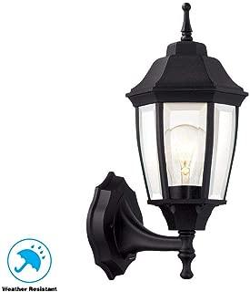 Hampton Bay Black 1 Light Outdoor Dusk to 14.5