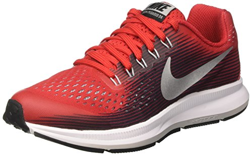 Nike Zoom Pegasus 34 GS, Zapatillas de Running para Niñas, Rojo (University Red/Black/Tough Red/White), 38.5 EU