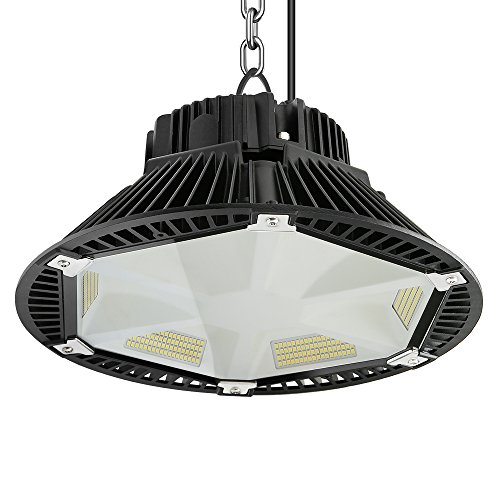 Anten PET-Reflektionsdesign LED Hallenstrahler 200W UFO Kaltweiß(5700-6500K), LED Hallenbeleuchtung LED High Bay Licht 130LM/W Schutzart IP65, 120°Abstrahlwinkel