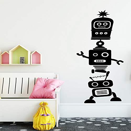 Hetingyue Grappige robot-muursticker, wanddecoratie, jongens, decoratie van de kamer