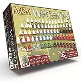 The Army Painter | Wargamers Mega Farbset | 60 Warpaints und 100 Mischkugeln | für Wargames Miniatur Modell Malerei