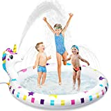 Best Gifts For 2 Year Old Girls - Inflatable Sprinkler Pool for Kids, Baby Toddler Wading Review