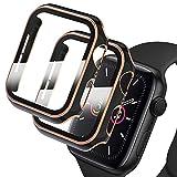 Deilin 2 Stück Hard Hülle mit Glas Displayschutz, Kompatibel mit Apple Watch SE/Series 6/ Serie 5/...