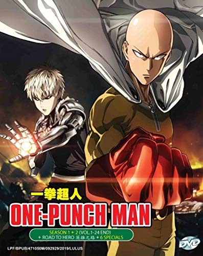 ONE PUNCH MAN (SEASON 1+2) - COMPLETE ANIME TV SERIES DVD BOX SET (24 EPISODES + MOVIE + 6 SPECIAL)