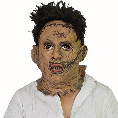 The Texas Chainsaw Massacre Thomas Leatherface Maske - perfekt für Fasching, Karneval & Halloween - Kostüm für Erwachsene - Latex, Unisex Einheitsgröße