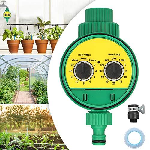 Jeteven Automatische Bewässerungsuhr Wasser Timer Zeitmesser Zeitschaltuhr Automatische zeitsparende Bewässerung mit wasserdichtem Schutzdeckel, für Garten...