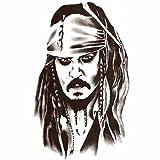 STRASS & PAILLETTES Tattoo Pirate des Caraibes - Grand Tatouages Jack Sparrow - Tatoo éphémères Waterproof. Tatoo temporaire n&b - Bijou de Peau