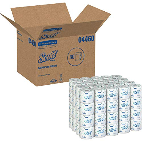 Kimberly Clark 4460 Scott Embossed Bath Tissue, White, 550 Sheets Per Roll, Plastic, 17' x 23' x 18' (Pack of 80)