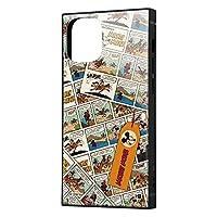 イングレム iPhone 12 mini ディズニー キャラクター 耐衝撃 ハイブリッド ケース カバー KAKU ストラップ ホール 付き スクエア 軽量 ミッキーマウス/comic IQ-DP26K3TB/MK010