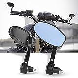 Espejos Retrovisores de Moto, 7/8''Retrovisores Moto Espejos Moto para Motocicleta Touring Cruiser Chopper Bicicleta -Azul