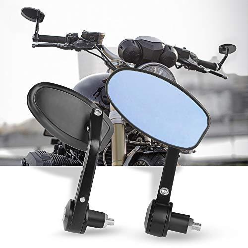 Espejos Retrovisores de Moto,7/8''Retrovisores Moto Espejos Moto para Motocicleta Touring Cruiser Chopper Bicicleta
