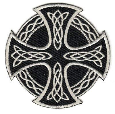 The Celtic Cross Round PATCH, by: 'Flag-It' The Most Trusted Brand, Superior Quality Iron-On / Saw-On Embroidered Patches - Each patch is carded & packaged individually in a professional retail package - 3.5' x 2.25' Inches - Made in the USA