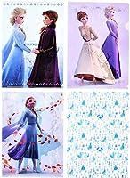 ディズニー アナと雪の女王 クリアファイル 4種セット アナと雪の女王2 ディズニーストア グッズ