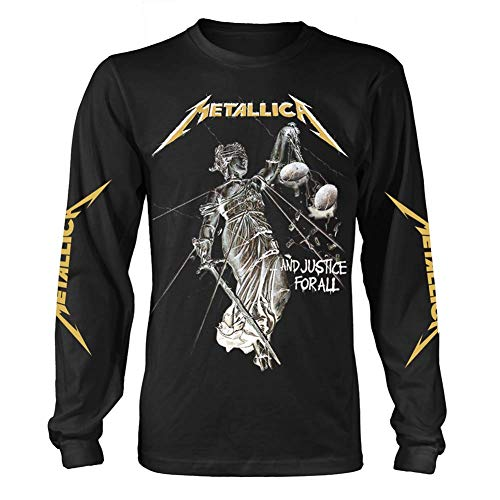 Metallica 'and Justice For All' (Black) Long Sleeve Shirt (Small)