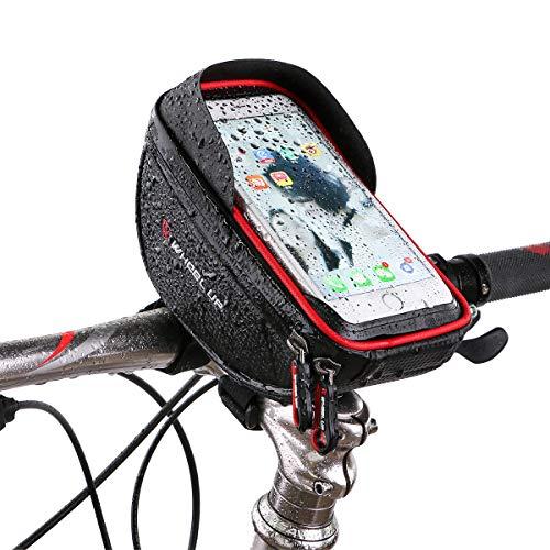 Bike Phone Mount Bag, KATEGY Waterproof Bike Phone Frame Holder Bag Touch Screen Bike Handlebar Bag Mountain Road Bicycle Front Bag for iPhone X 8 7 Plus 6s 6 Plus 5s 5 / Samsung Galaxy s8 s7 Note 7
