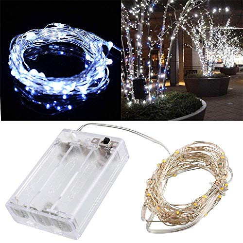 String Lights Exquisite 20LED Micro Rice Wire Copper Fairy Lights, Home Garden Decor Battery Lights Xmas Wedding Party Fe Gift