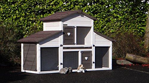 Animalhouseshop.de Kaninchenstall Annemieke mit Auslauf 175x70x110cm - 4