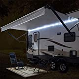 RecPro RV Camper Motorhome Travel Trailer 16' White LED Awning Party Light w/Mounting Channel & White PCB 12v Light