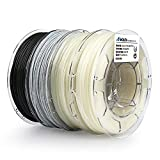 AMOLEN Impresora 3D Filamento PLA 1.75mm, GITD Azul, GITD Verde, Temp Color Change, Mármol,+/-...