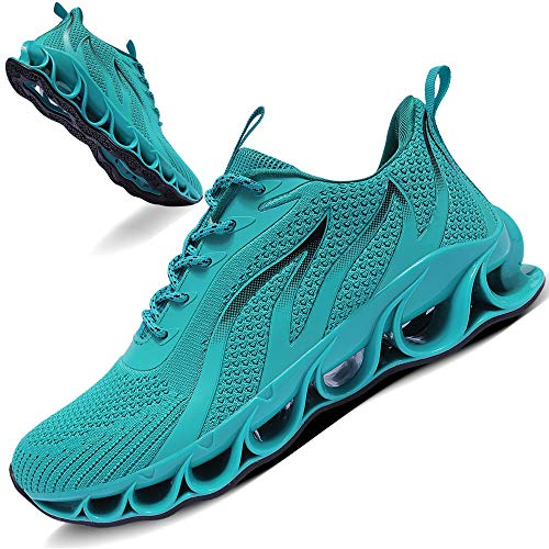 TIAMOU Running Shoes Men Walking Shoes Sport Athletic Jogging Sneakers Blue