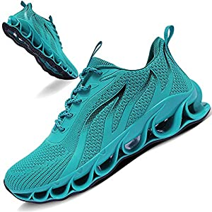 TIAMOU Running Shoes Men Walking Shoes Tennis Slip on Casual Sneakers Jogging Athletic Outdoor Gym Workout Fitness Jogging Shoes Blue